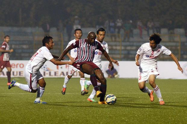 File photo of a match between Mohun Bagan and Aizawl FC. Photo: HT