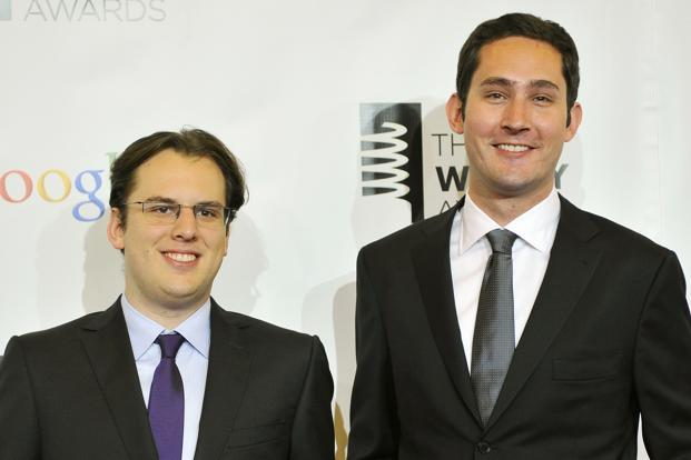 Instagram co-founders Mike Krieger (left) and Kevin Systrom. Photo: Reuters