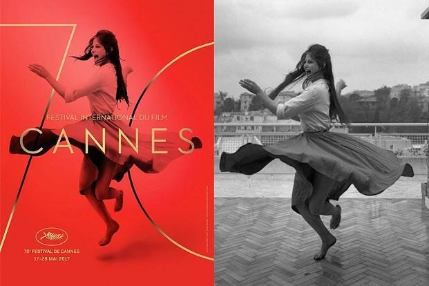The Cannes 2017 poster and the original photograph.