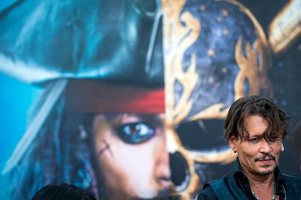 The fifth instalment of the highly-profitable Pirates franchise stars Javier Bardem as the villain opposite Johnny Depp's Captain Jack Sparrow. Photo: Johannes Eisele/AFP