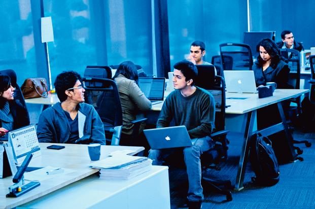 Many Indian IT services firms were founded on high availability of skilled manpower in India at a significant cost differential from the developed countries. In their first phase of growth, this was a huge advantage. Photo: Priyanka Parashar/Mint