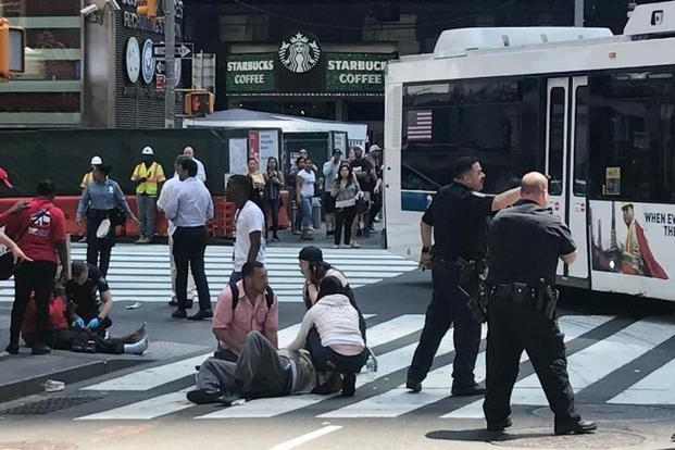Dozens hurt after car rams into Times Square crowd