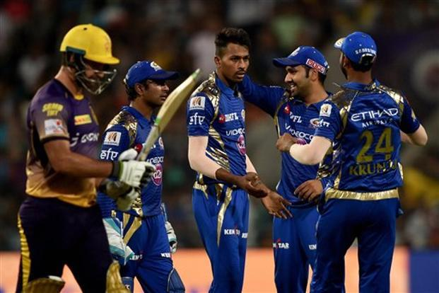 Kolkata Knight Riders (KKR) have an abysmal 5-15 head-to-head record against Mumbai Indians, who notched up twin victories over their rivals in the league stage of the IPL tournament this year.  Photo: PTI