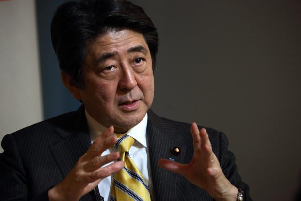 a file photo of Japanese Prime Minister Shinzo Abe. Photo: Bloomberg