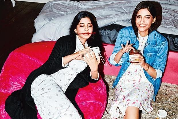 Rhea and Sonam Kapoor (right).