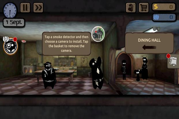 The game uses both voice and text to drive conversation between characters