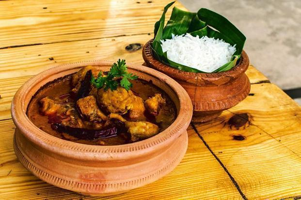 Goan cuisine features an assortment of spicy meat-based curries with rice.