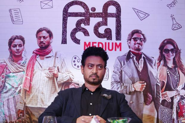 Irrfan Khan-starrer Hindi Medium delves into the education system in Delhi. Photo: AP