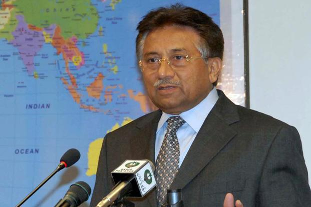 Pakistan former president Pervez Musharraf Musharraf has been charged with involvement in the murder of former two-time PM Benazir Bhutto in 2007. Photo: AFP