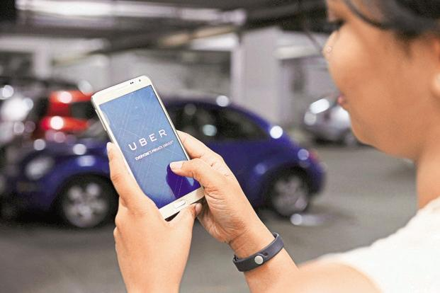 The customers may directly approach the kiosk to book a cab and need not download or use the Uber app. Photo: Mint