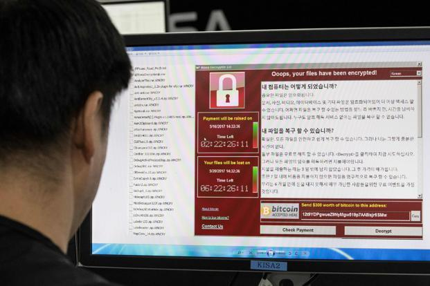 WannaCry, which started to sweep round the globe last Friday and has infected more than 300,000 computers in 150 nations. Photo: AP