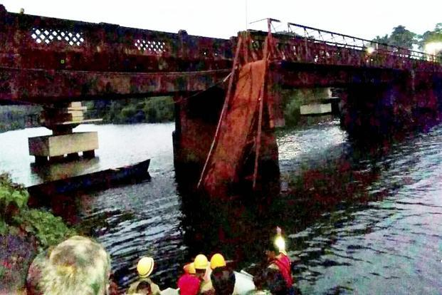 The bridge had been closed for traffic for the last four years, due to its dilapidated condition. Photo: PTI
