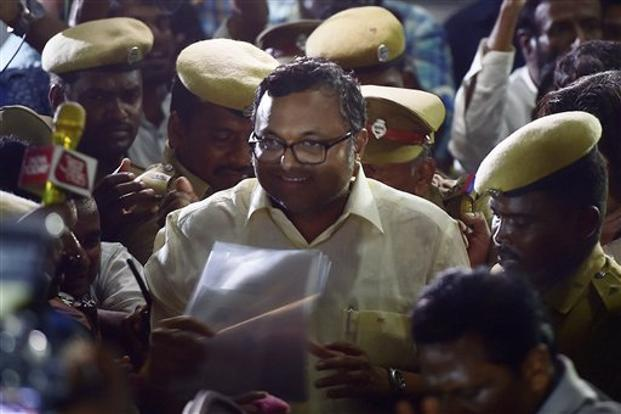 According to the CBI, Karti Chidambaram had received money from the media firm owned by Indrani and Peter Mukerjea to scuttle a tax probe. Photo: PTI