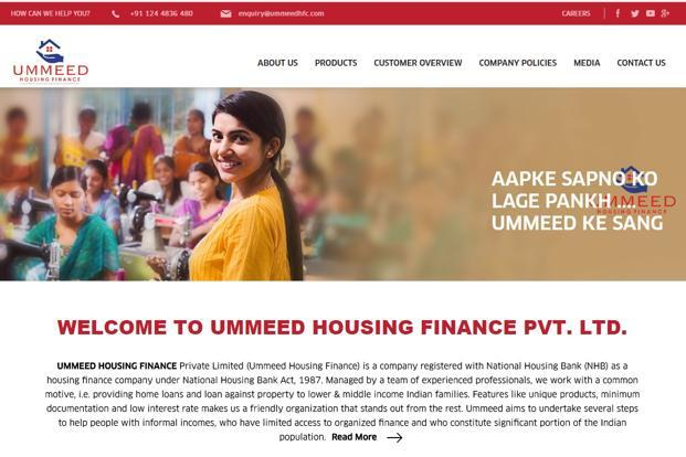 Ummeed Housing focuses on affordable housing finance loans in the range of Rs3-25 lakh.