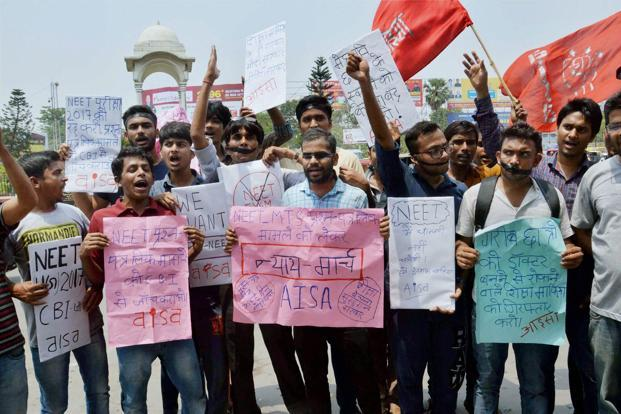 Image result for Chennai: Aspirants strike against NEET entrance examination