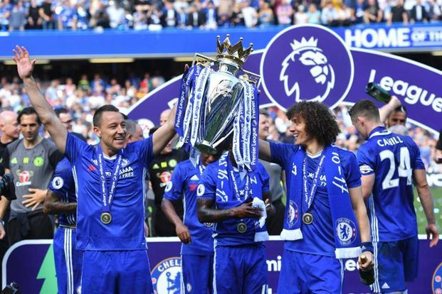 The victorious Chelsea team. Photo: Ben Stansall/AFP.