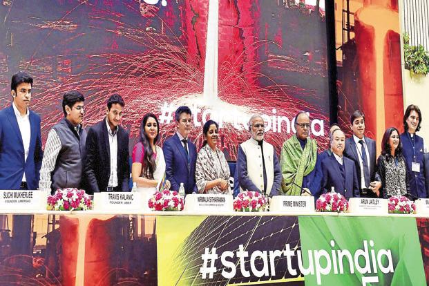 Startup India was launched by the Narendra Modi government on 16 January 2016 to  nurture innovation and drive economic growth and  employment opportunities. Photo: PTI
