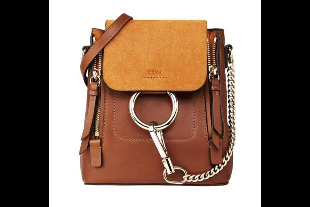 The Faye tan backpack by Chloé.