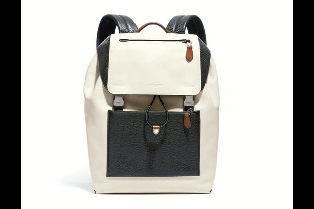 Mixed leather Manhattan Backpack.