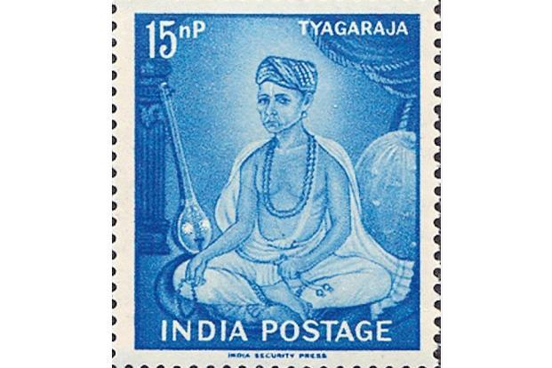 In 1961, the posts and telegraphs department released a special commemoration stamp on Tyagaraja. Photo: Courtesy Veejay Sai