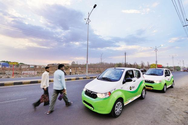 Under the newly inaugurated multi-modal electric vehicle project, 200 electric taxis and e-rickshaws will operate in Nagpur on Ola's platform. A solar power charging station built by Ola was also unveiled on Friday. Photo: Aniruddha Chowdhury/Mint