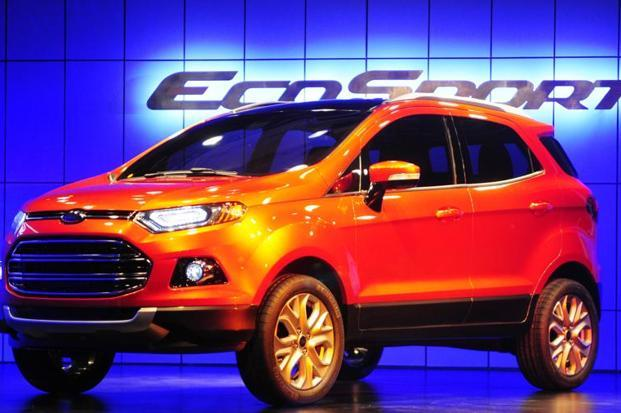 The Ford EcoSport is being offered at a discount of Rs20,000 to Rs30,000 ahead of GST implementation on 1 July. Photo: AFP