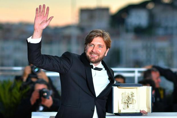 Writer-director Ruben Ostlund's 'The Square' beat stiff competition to win the top prize at the Cannes Film Festival. Photo: AFP