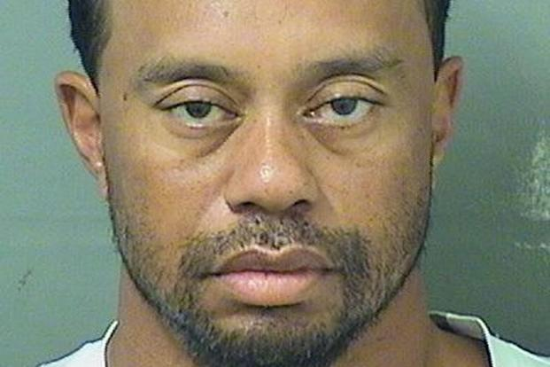 Tiger Woods in a booking photo released by the Palm Beach county sheriff's office in Florida on Monday. Photo: Reuters