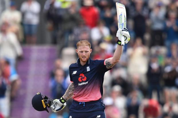 The England trio of Jason Roy, Alex Hales and Ben Stokes (in pic) will be among the players pioneering new bat sensors during the ICC Champions Trophy.