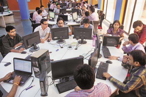 The IT sector, one of the largest employers in the country, has seen a steep drop in salary hikes. Photo: Hindustan Times.