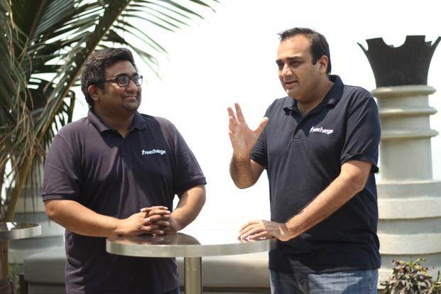Freecharge founders Kunal Shah and Sandeep Tandon.