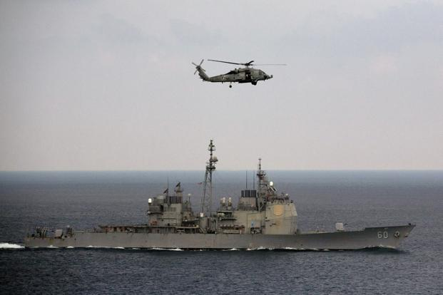 The Malabar exercises began as India-US drills in 1992 but have included Japan since 2014. Photo: