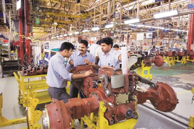 Factory output expanded at the softest pace since February but remained moderate. Photo: Mint