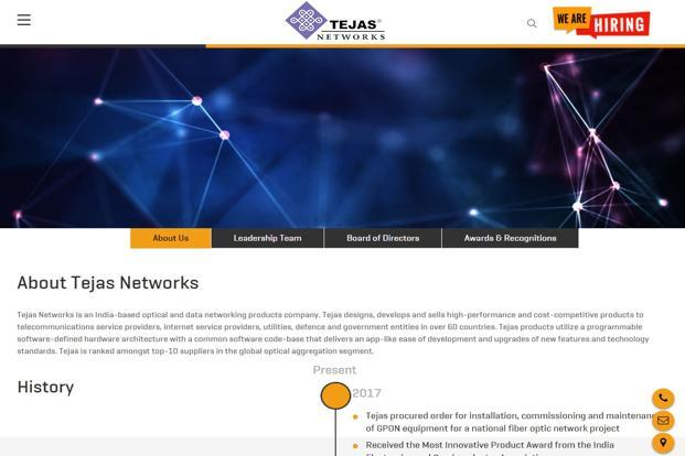 Tejas Networks had passed a resolution at its board of directors' level and a special resolution by the shareholders, agreeing for enhancing investment limit for FIIs/FPIs and NRIs.