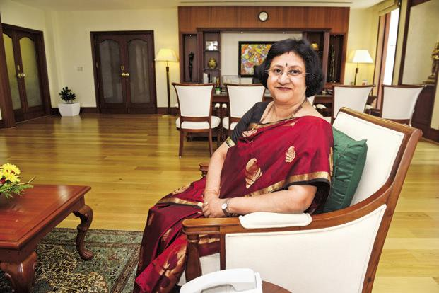 "Arundhati Bhattacharya said SBI had  ""everything in place"" and the share sale ""more or less"" would happen this year.  Photo: Abhijit Bhatlekar/Mint"