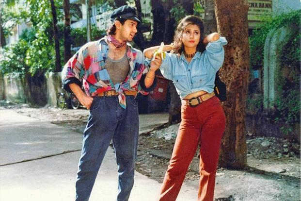 Aamir Khan and Urmila in a still from 'Rangeela'.