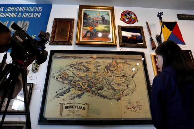 Original Disneyland map could fetch 900000 at LA auction  Livemint