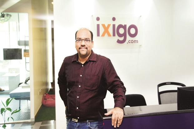 Ixigo co-founder and CEO Aloke Bajpai (in pic) says the company aims to close the current fiscal year with sales of about Rs50 crore, up from Rs23 crore it clocked in 2016-17. Photo: Ramesh Pathania/Mint