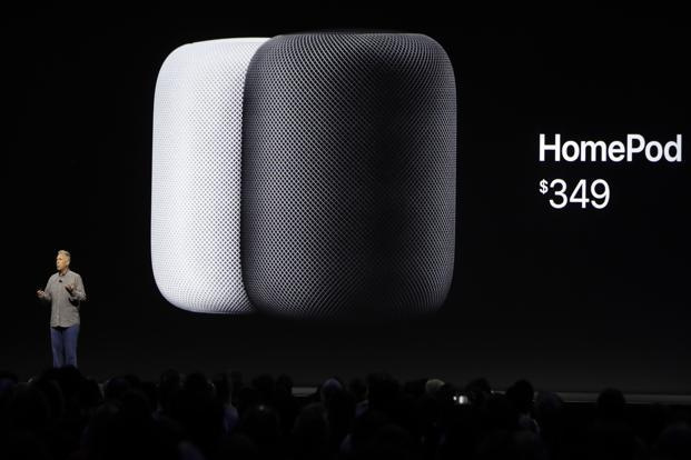 Apple's HomePod speaker, introduced at the WWDC 2017 on Monday, is the first new device by the Cupertino-based tech giant since the Apple Watch—and a step forward into the world of Internet of Things. Photo: AP