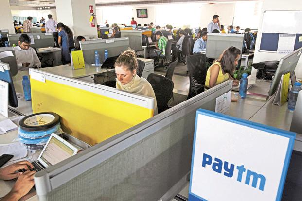 The headquarters of One97 Communications Ltd, which owns Paytm, at Noida, UP. Photo: Bloomberg
