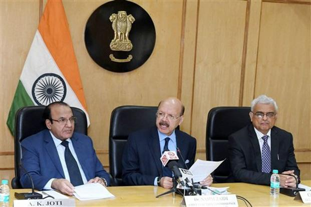 Chief election commissioner Nasim Zaidi said a notification regarding the presidential polls would be issued on 14 June