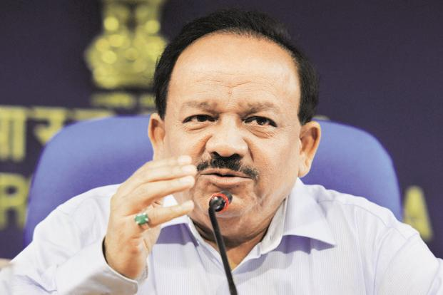 Union environment minister Harsh Vardhan. Photo: HT