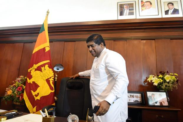 Sri Lankan foreign minister Ravi Karunanayake. Photo: AP