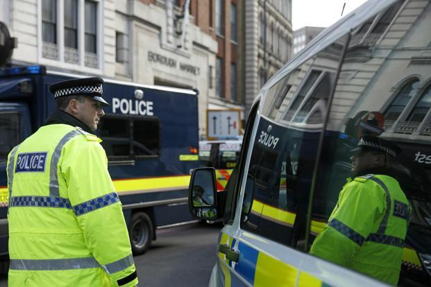 Police said a 30-year-old man was arrested early Wednesday at an address in east London. Photo: AFP