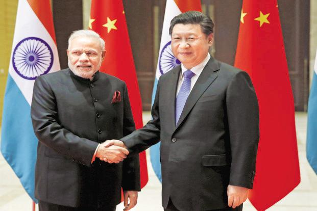 PM Narendra Modi (left) and Chinese President Xi Jinping in Xian, China, in 2015. Photo: Reuters