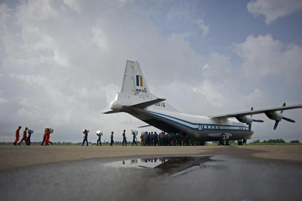 Myanmar military plane missing; search ongoing