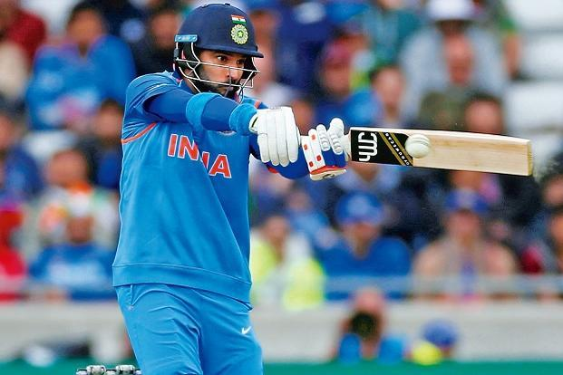 Yuvraj Singh hit eight boundaries and a six to score 53 against Pakistan on Sunday. Photo: Reuters