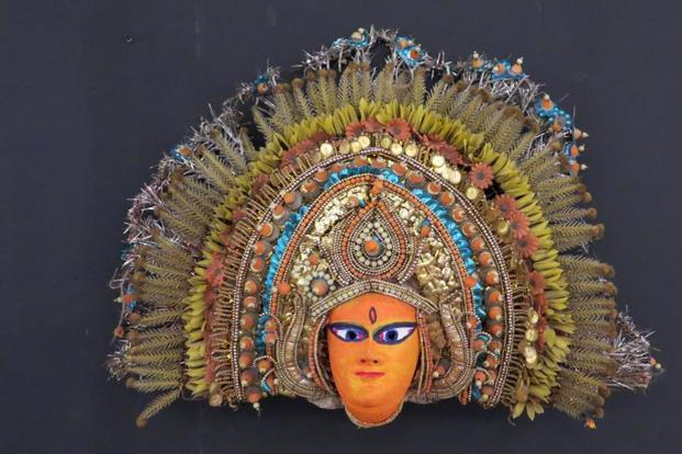 Traditional Indian masks will be on display at 'Mukhosh'.