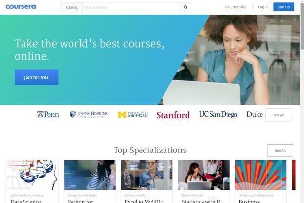 Since launching in 2012, Coursera says it has 25 million registered users and offers over 2,000 courses and 180 specializations.