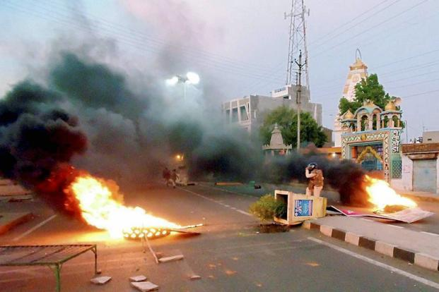 22 people have been arrested for arson and other offences related to violence, while 34 have been arrested for defying prohibitory orders, police said. Photo: PTI